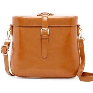 New Vintage Design Bag Cognac Color
